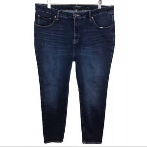 Lucky Brand Dark Wash Hayden Skinny Jeans Size 18W